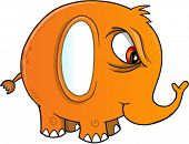 image of nasty  - Nasty Elephant Vector Illustration Art - JPG