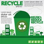 Recycle Illustration Concept.