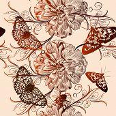 Floral Vector Pattern For Design