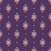 russian tea pot symbol seamless pattern