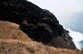 Cliff Eroding Into Sea