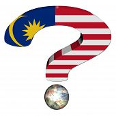 stock photo of ringgit  - question mark with Malaysian flag and Ringgit illustration - JPG
