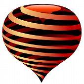 Vector Striped Heart