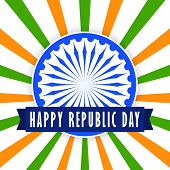 foto of ashok  - Stylish creative vector background for republic day of India - JPG