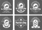 Calligraphic Design Elements St. Patrick's Day