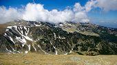 stock photo of blue ridge mountains  - Alpine landscape in Carpathians mountains - JPG
