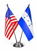 USA and Honduras - Miniature Flags.