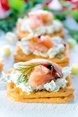 Постер, плакат: Little Salmon Appetizer