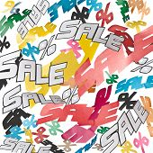 collage background sale and percent signs