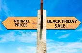 Normal Prices versus Black Friday sale messages