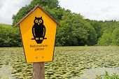 Sign nature reserve area