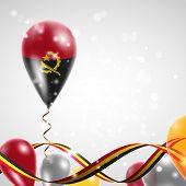 flag of Angola on balloon