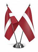 Latvia - Miniature Flags.