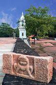 Anuradhapura-circa December 2014: entrance to stupa Abhayagiri Dagoba in Anuradhapura December 2014