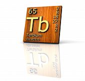 Terbium Form Periodic Table Of Elements - Wood Board