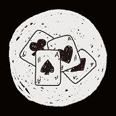 stock photo of poker hand  - Doodle Poker - JPG