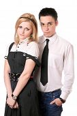 picture of friendship belt  - Portrait of pretty student pair - JPG