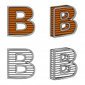 stock photo of letter b  - Letter B  - JPG
