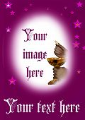 picture of eucharist  - Frame for your photo at first eucharist - JPG