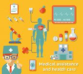 picture of cardiology  - Medical assistance and health care concept - JPG