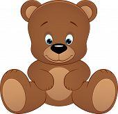 foto of cute bears  - Vector illustration cute teddy bear - JPG