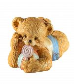 image of cute bears  - statuette of cute bear with candy on a white background - JPG