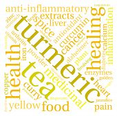 image of ringworm  - Turmeric word cloud on a white background - JPG