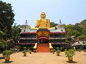 foto of buddhist  - Dambula golden temple in Sri lanka  - JPG