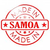 image of samoa  - Made in Samoa red seal image with hi - JPG