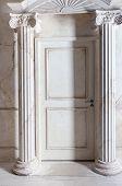 stock photo of aristocrat  - Luxurious antique interior in aristocratic style in white colors - JPG