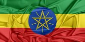 pic of ethiopia  - Flag of Ethiopia waving in the wind - JPG