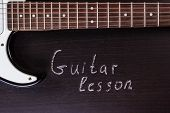 pic of guitar  - Electric guitar with text  - JPG