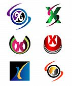 stock photo of letter x  - Letter X logo Icons Set Vector Graphic Design - JPG
