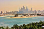 image of emirates  - View of Dubai skyline - JPG