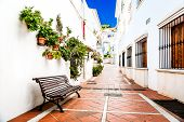 stock photo of southern  - Picturesque narrow street of Rancho Domingo - JPG