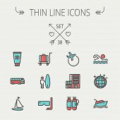 image of oxygen mask  - Travel thin line icon set for web and mobile - JPG
