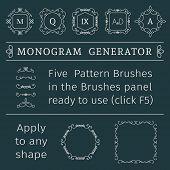 stock photo of generator  - Vintage monogram generator - JPG