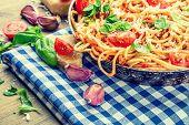 stock photo of spaghetti  - Spaghetti - JPG