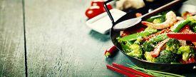 foto of chinese wok  - Chinese cuisine - JPG