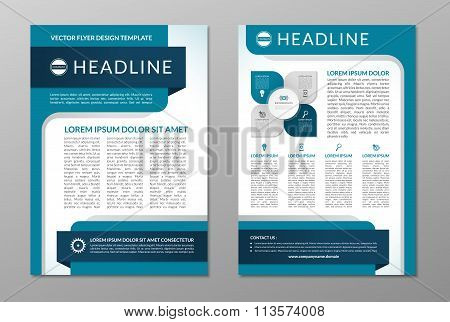 business brochure flyer layout template a4 size poster