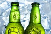 Beer with icecubes