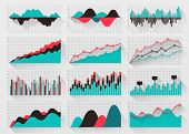 Charts elements for business infographics poster