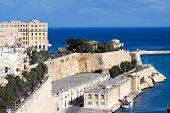 picture of olden days  - View of Valletta with Barrakka Gardens Malta - JPG