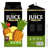 ������, ������: Template Packaging Design Pineapple Juice