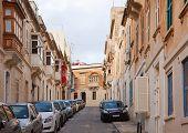 foto of olden days  - Street in an old European town  - JPG