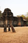 stock photo of mahadev  - Mahadev Hindu Temple in Goa India at sunset - JPG
