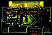 Glowing Circuit Board