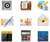 Vector banking icons.