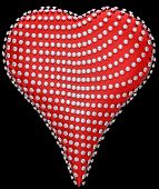 Red Heart Shape Incrusted With Diamonds