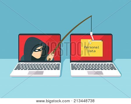 Phishing scam hacker